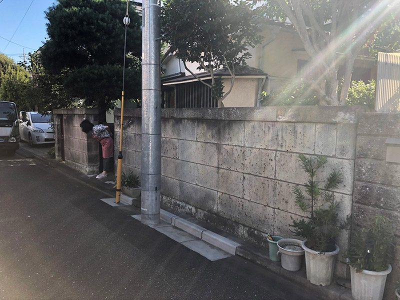 塀の解体撤去施工前2