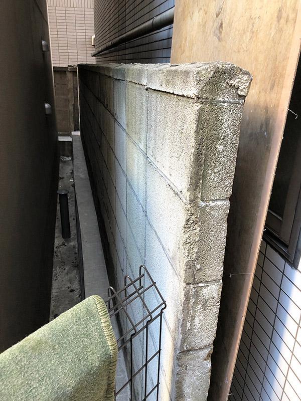 ブロック塀解体撤去施工前