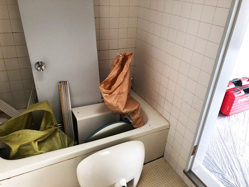 浴室の解体施工前2