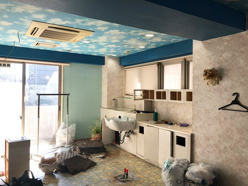 美容室解体施工前2
