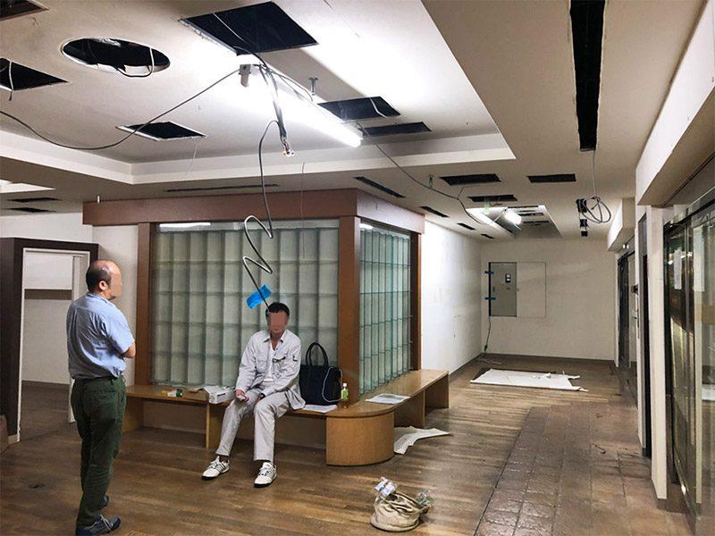 大型商業施設内の店舗解体-施工前2