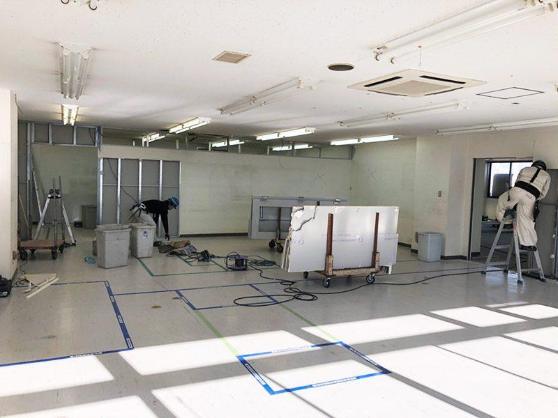 倉庫内オフィス施工前2