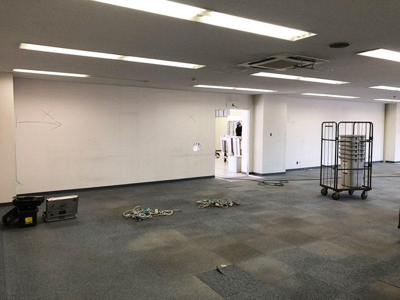 倉庫内オフィス施工前3