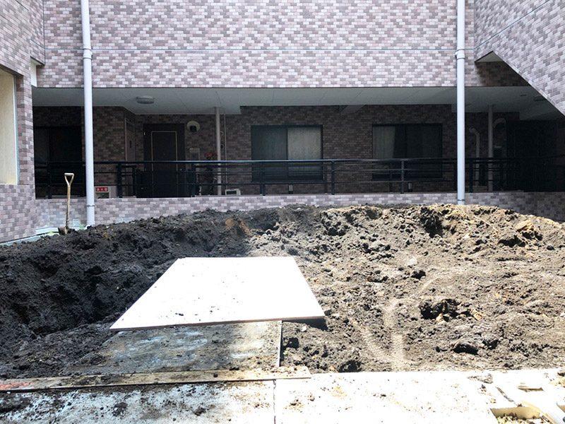土撤去施工前3